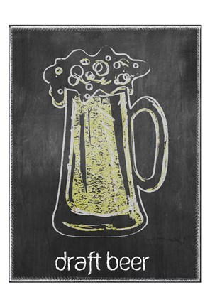 Framed Draft Beer Chalk Print