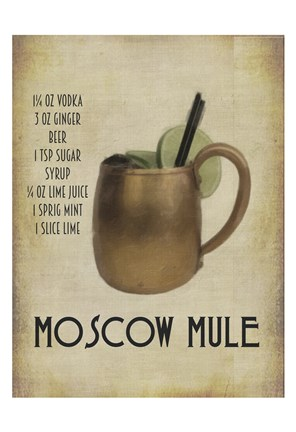 Framed Moscow Mule Print