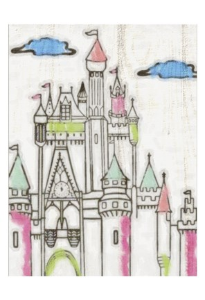 Framed Sketch Castle II Print