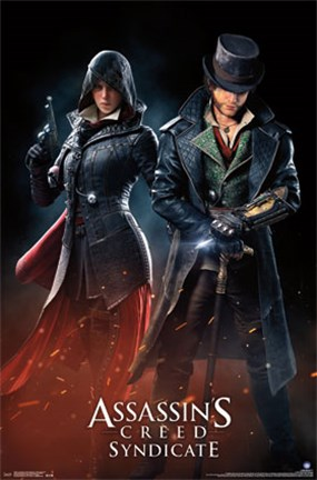 Framed AC Syndicate - Evie and Jacob Print
