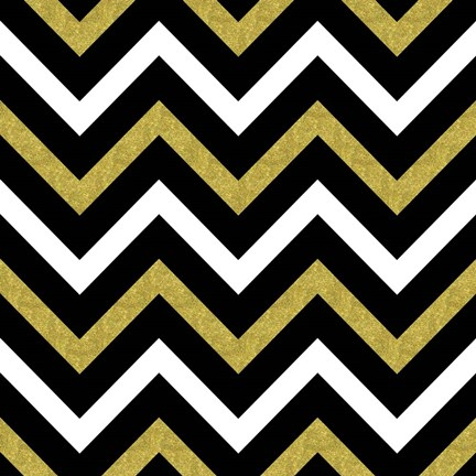 Framed Bling Chevron Print