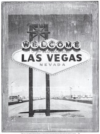 Framed Welcome to Vegas Print