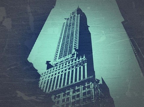 Framed Chrysler Building Print