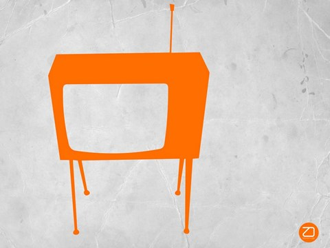 Framed Orange TV Vintage Print