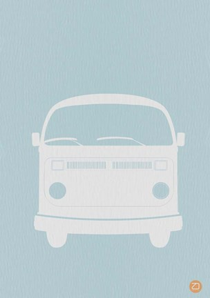 Framed VW Bus Blue Print