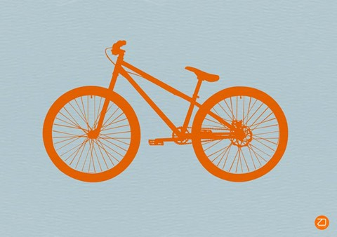 Framed Orange Bicycle Print
