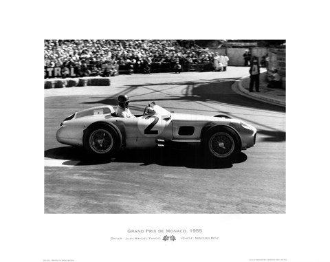 Framed Grand Prix de Monaco 1955 Print