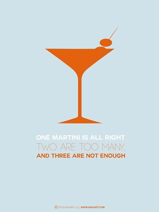 Framed Martini Orange Print