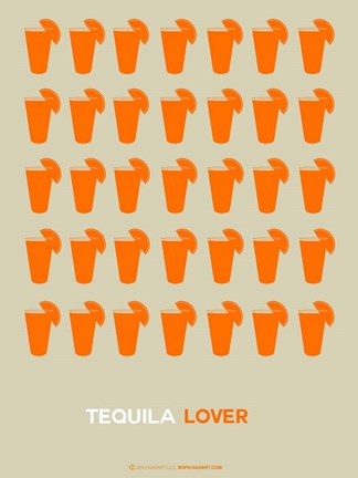 Framed Orange Tequila Shots Print