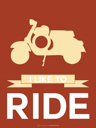 Framed I Like to Ride 1 Print