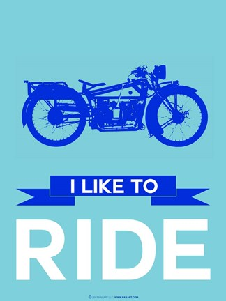 Framed I like to Ride 7 Print