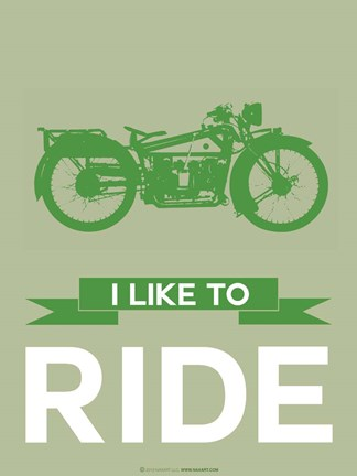 Framed I Like to Ride 8 Print