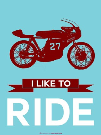 Framed I Like to Ride 10 Print