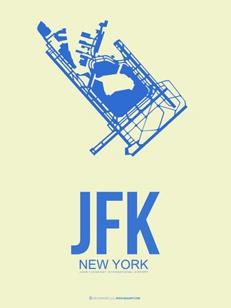 Framed JFK New York 3 Print