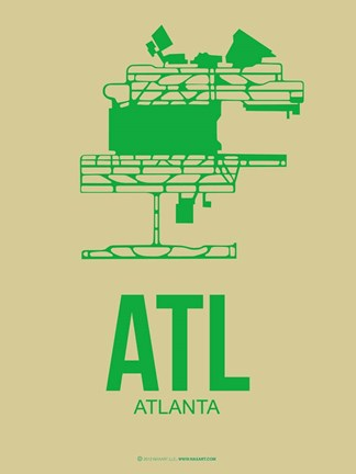 Framed ATL Atlanta 1 Print