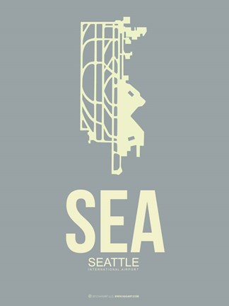 Framed SEA Seattle 3 Print