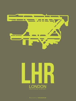 Framed LHR London 3 Print
