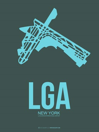 Framed LGA New York 3 Print