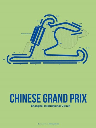 Framed Chinese Grand Prix 1 Print