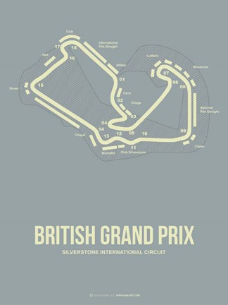Framed British Grand Prix 1 Print