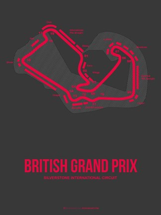 Framed British Grand Prix 2 Print