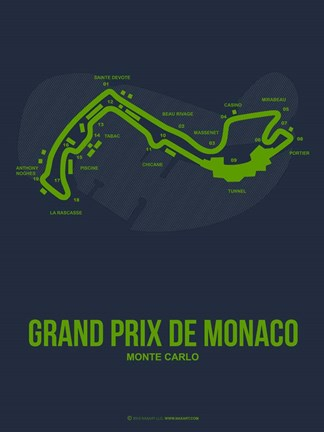 Framed Monaco Grand Prix 2 Print