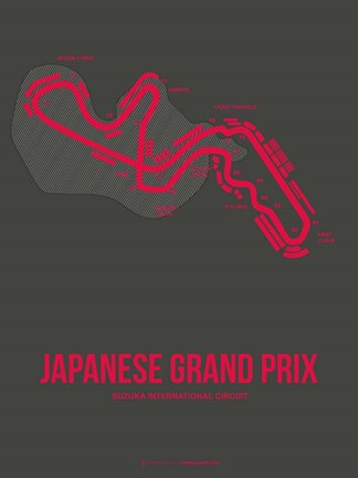 Framed Japanese Grand Prix 3 Print