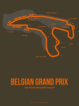 Framed Belgian Grand Prix 1 Print