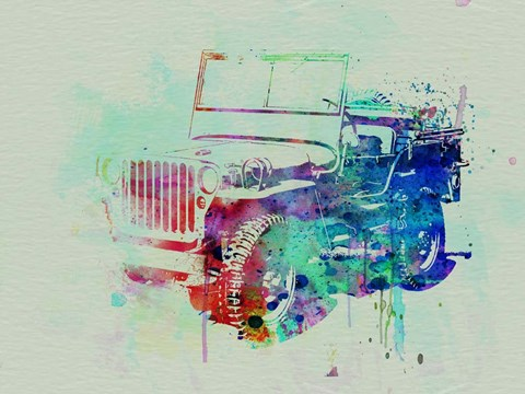 Framed Jeep Willis Print