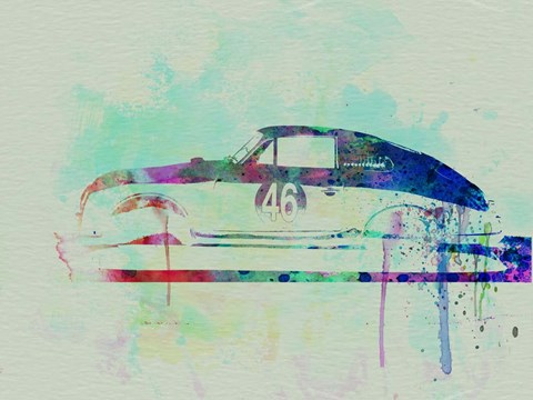 Framed Porsche 356 Watercolor Print