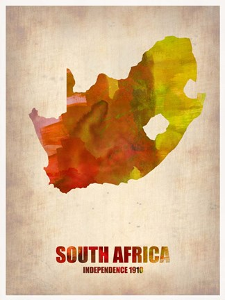 Framed South African Map Print