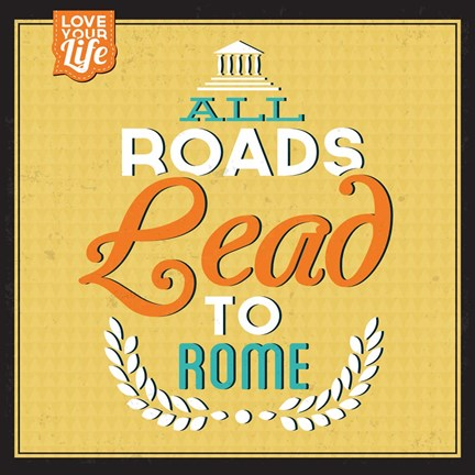 Framed Roads To Rome Print