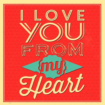 Framed I Love You From My Heart Print