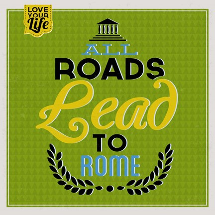Framed Roads To Rome 1 Print
