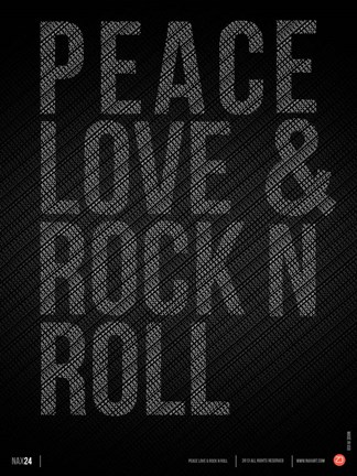Framed Peace Love and Rock N Roll Print