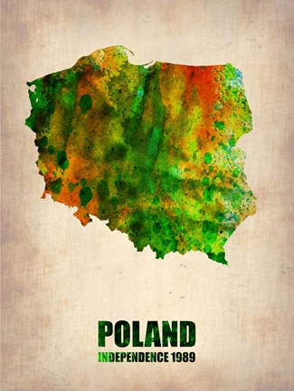 Framed Poland Watercolor Print