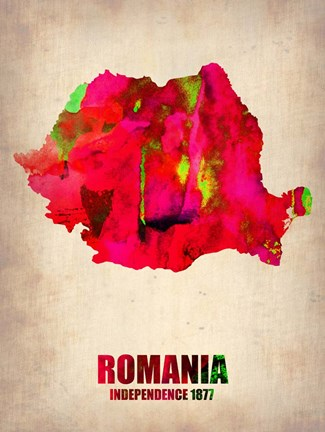 Framed Romania Watercolor Print