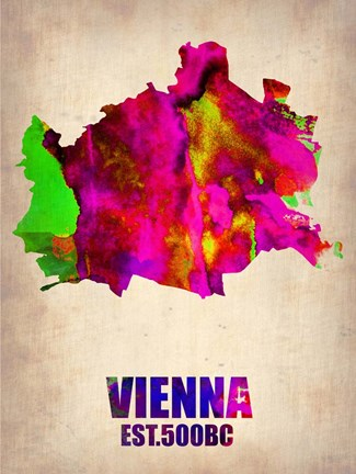 Framed Vienna Watercolor Print