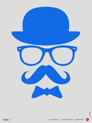 Framed Hats Glasses and Mustache 3 Print