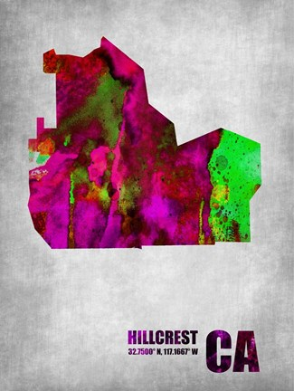 Framed Hillcrest California Print
