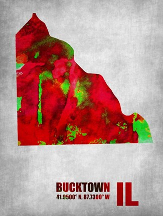 Framed Bucktown Illinois Print