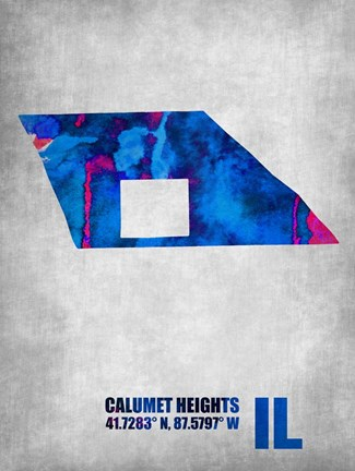 Framed Calumet Heights Illinois Print
