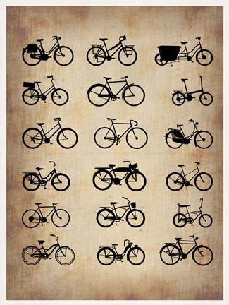 Framed Vintage Bicycles Print
