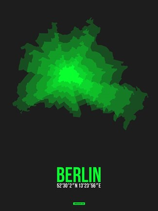 Framed Berlin Radiant Map 4 Print