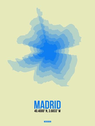 Framed Madrid Radiant Map 1 Print