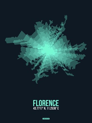 Framed Florence Radiant Map 2 Print
