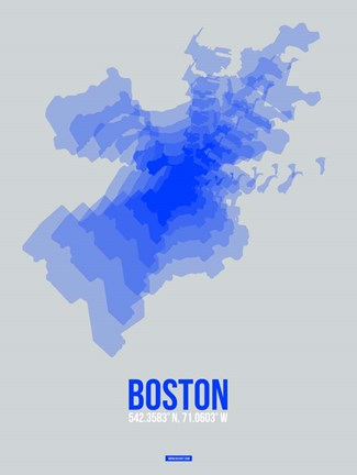 Framed Boston Radiant Map 3 Print
