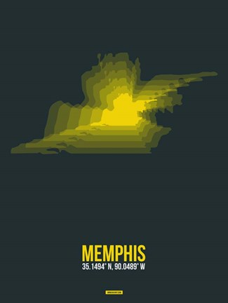 Framed Memphis Radiant Map 1 Print