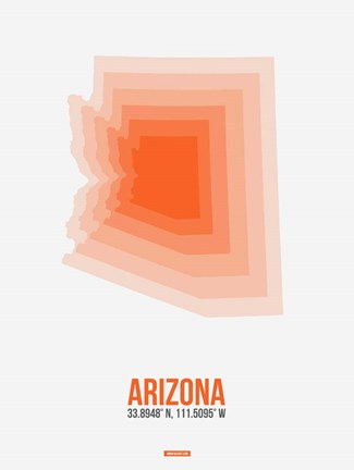 Framed Arizona Radiant Map 1A Print