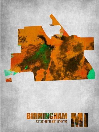 Framed Birmingham Michigan Print